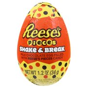 Reeses Pieces Shake & Break Milk Chocolate Egg 1.2 oz