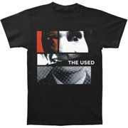Used Men's  Collage Face Slim Fit T-shirt Black