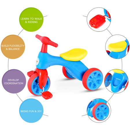 Costway 2 in 1 Toddler Tricycle Balance Bike Scooter Kids Riding Toys w/ Sound & Storage - image 3 of 10