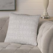 "Rizzy Home Decorative Poly Filled Throw Pillow Technique Textured 20""X20"" Light Gray"