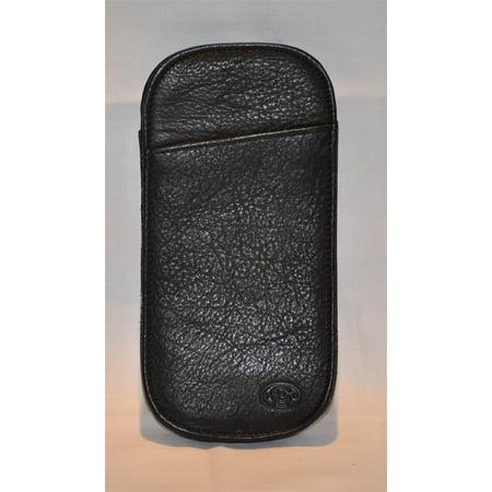 Printed Calf Slip in Black Onyx Eyeglass Case