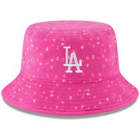 buy popular 0e7f1 8b2a2 Product Image Los Angeles Dodgers New Era Infant Alphabet Bucket Hat - Pink  - OSFA