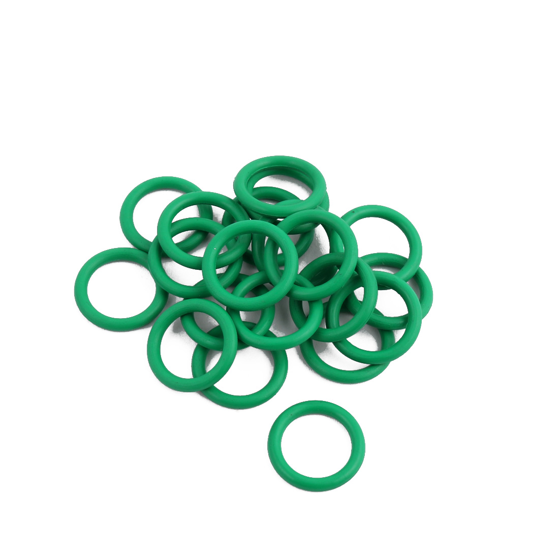 20Pcs Green 14 x 2mm Industrial Flexible Rubber O Ring Oil Sealing Grommets