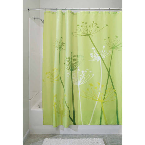 InterDesign Thistle Fabric Shower Curtain, Various Sizes