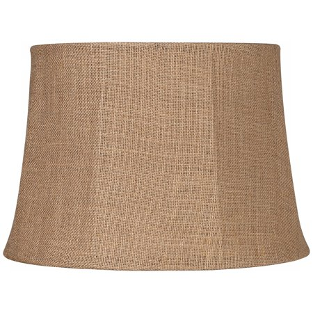 Brentwood Natural Burlap Large Drum Lamp Shade 13x16x11 (Spider)