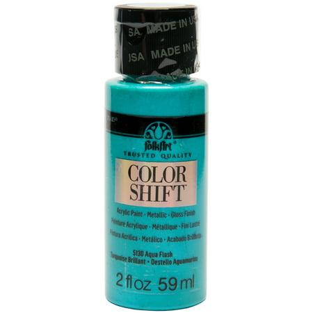 2oz Folkart Color Shift Aqua - Aqua Colors