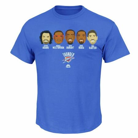 Oklahoma City Thunder NBA Majestic Men's Blue Emoji Team Graphic T-Shirt