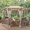 Better Homes & Gardens Flora 13' Octagon Gazebo with Netting