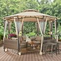 Better Homes & Gardens Flora 13' Octagon Gazebo with Netting