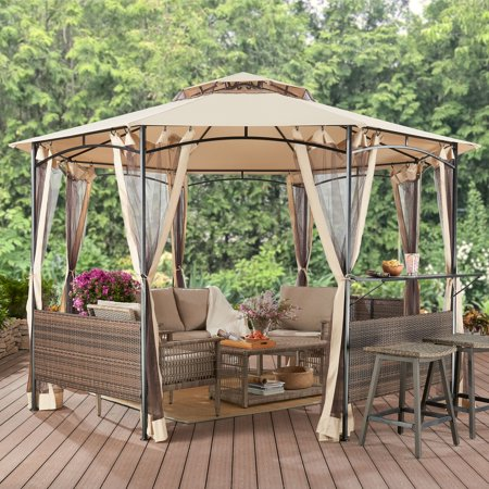 Better Homes & Gardens Flora 13' Octagon Gazebo with Netting ()