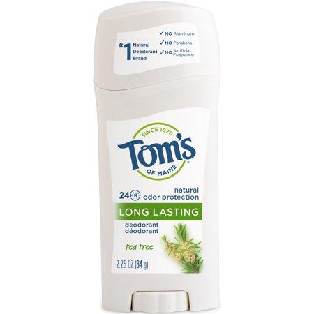 Tom's of Maine 24-Hour Long-Lasting Deodorant Stick, Tea Tree, 2.25 Oz ()