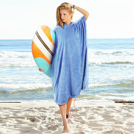 Hooded Poncho Towels Changing Robe for Adult Surfer Swimmer Sport Beach - Swimmers Towel