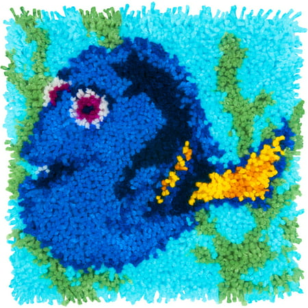 """Dimensions Disney Latch Hook Kit 12""""X12""""-Dory - Finding Dory"""