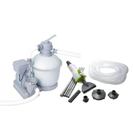 Bestway 1200 Gph Flowclear Pool Sand Filter With Ozonator Kokido Skooba Vacuum