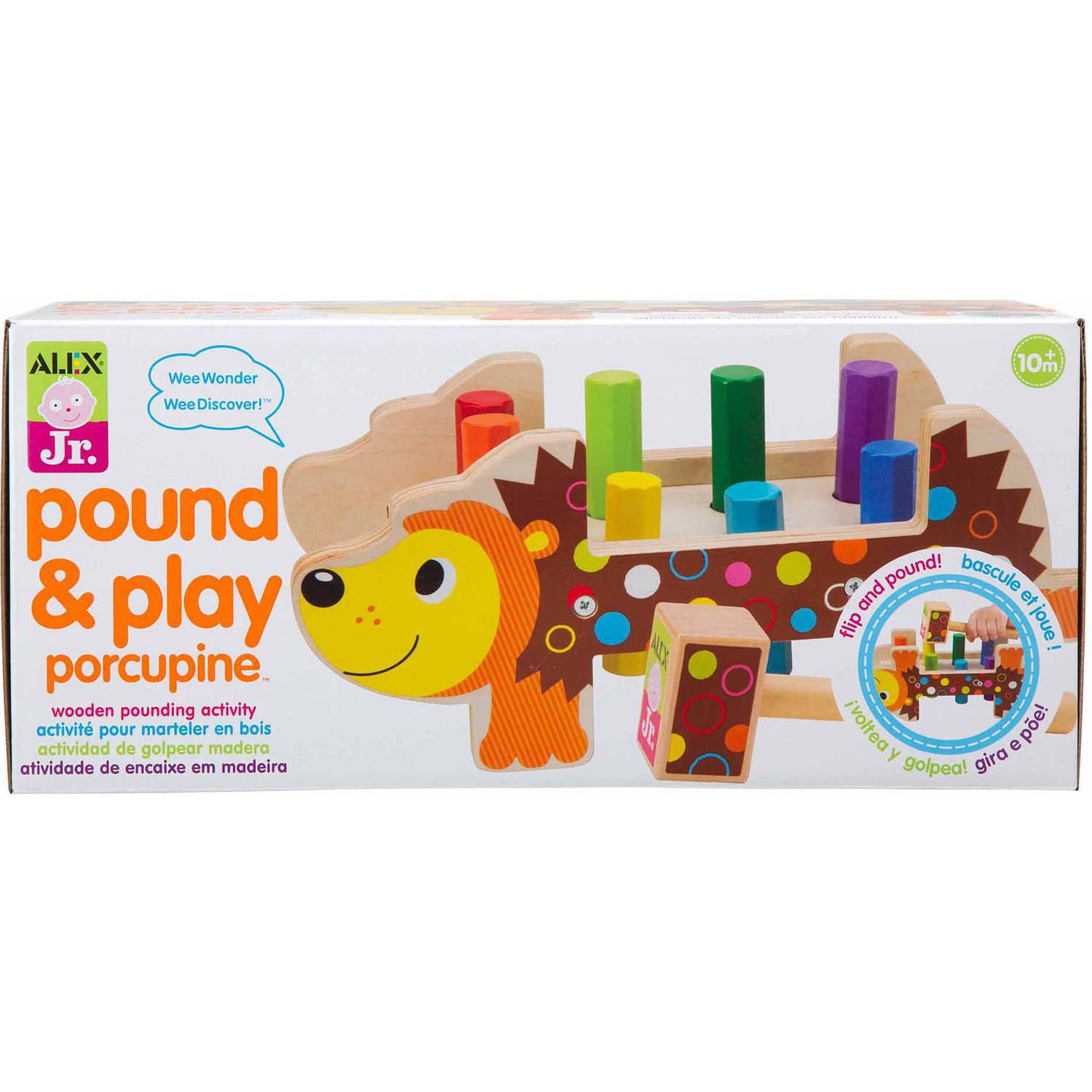 ALEX Toys ALEX Jr. Porcupine Pounder Baby Activity Center