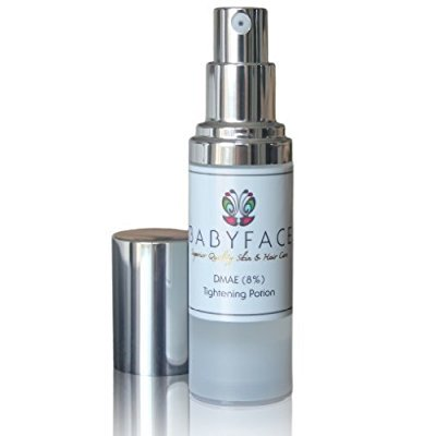 Skin Smoothing Serum - babyface instant tightening serum - extra strength 8% dmae for maximim tightening and pore refining. lifts, smoothes, resurfaces dull skin