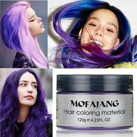 7 Colors Unisex Multi-Color Temporary Modeling Fashion DIY Hair Color Wax Mud Hair Dye Cream - Temporary Red Hair Dye Halloween