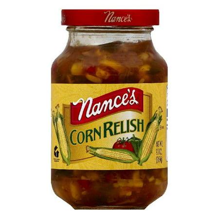 Spicy Corn Relish - Nances Corn Relish, 9.5 OZ (Pack of 6)