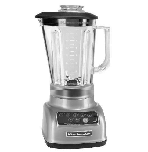 KitchenAid 5-Speed Blender RRKSB1570CU, 56-Ounce, Contour Silver (Certified Refurbished)