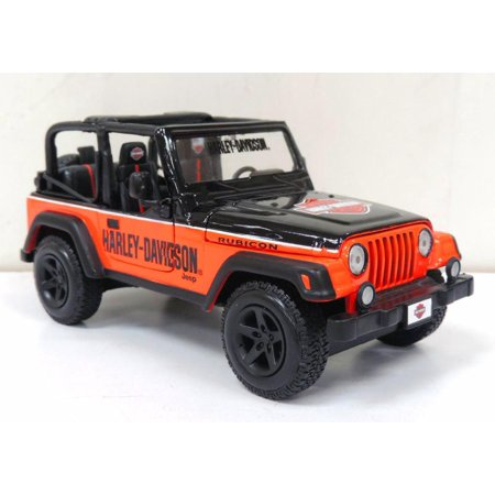 Jeep Wrangler Rubicon Orange Black Maisto Hd Custom 32190ob 1