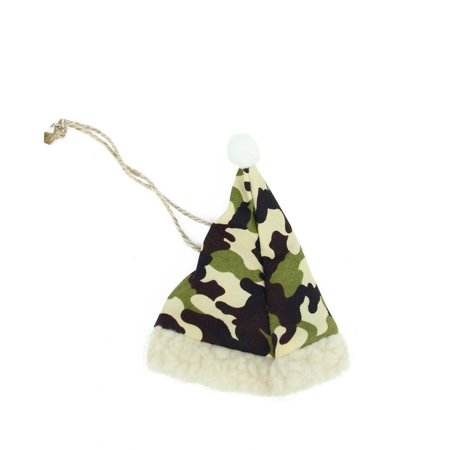 """4.25"""" Camouflage Patterned Hunting Santa Hat with Faux Fur Brim Christmas Ornament thumbnail"""