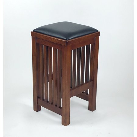 Wayborn Mission Style Barstool - - Oak Traditional Mission Style Bar