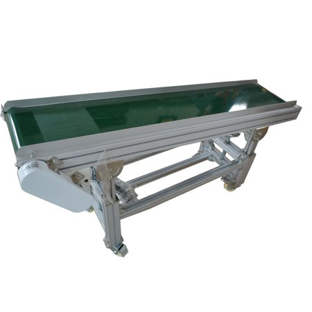 """INTBUYING PVC Incline Conveyor Belt Systems for Industrial Transport Portable 59""""*11.8"""""""