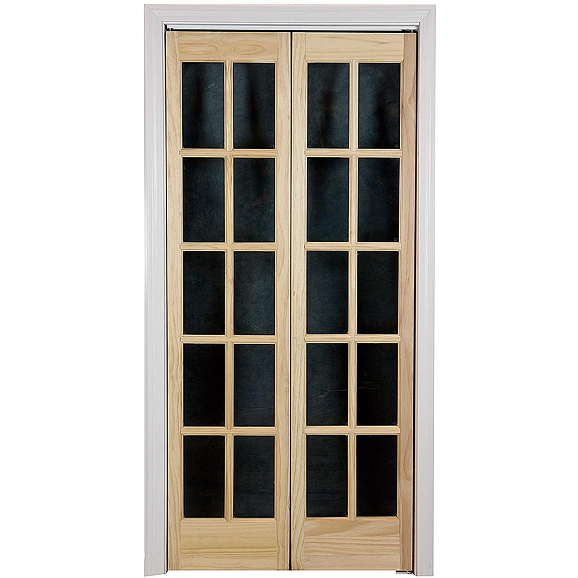 "AWC Traditional Divided Light Glass 36"" x 80.5"" Bifold Door"