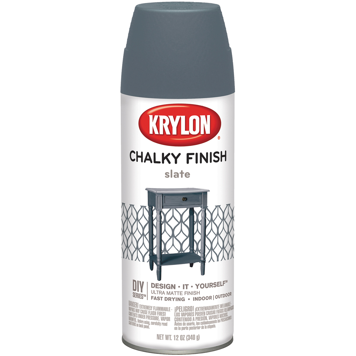Chalky Finish Aerosol Spray Paint 12oz-Slate