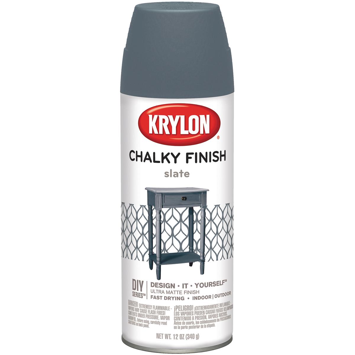 Chalky Finish Aerosol Spray Paint 12oz-Slate
