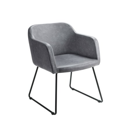 Terrific Furniture Of America Glasgo Modern Leatherette Accent Chair In Gray Gmtry Best Dining Table And Chair Ideas Images Gmtryco