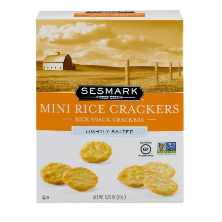 Sesmark Gluten Free Mini Rice Crackers, Lightly Salted, 5.25 Oz