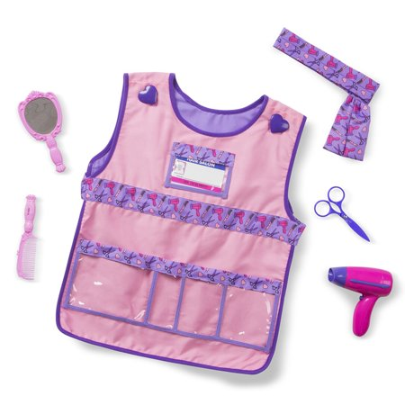 Melissa & Doug Hair Stylist Role Play Costume Dress-Up Set (7 pcs) - Pirate Costume Melissa And Doug