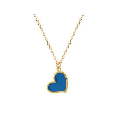 Fronay 211580T Blue Enamel Heart Vermeil Girls Pendant - image 1 de 1