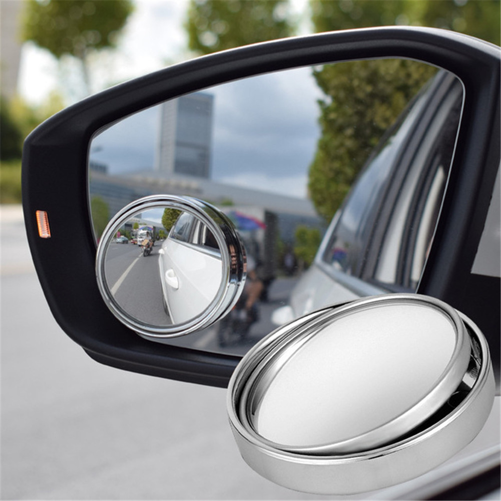 1PC Car Rear View Mirror 360° Rotating Wide Angle Convex Blind Spot Accessories
