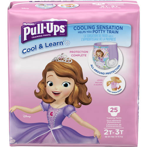 Pull-Ups Girls' Cool & Learn Training Pants, Size 2T/3T, 25 Pants