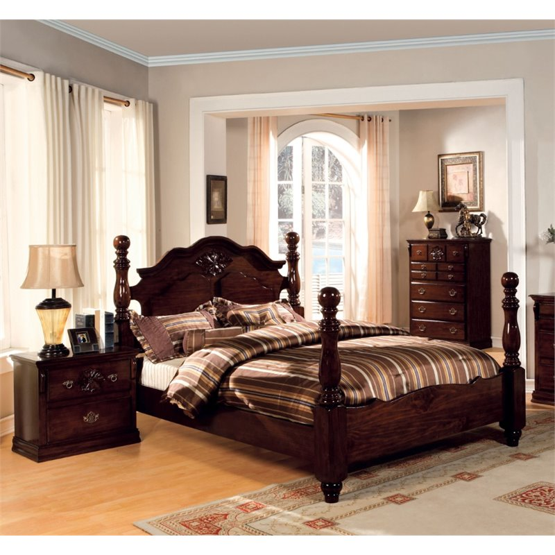 Furniture of America Cathie 2 Piece King  Panel Bedroom Set