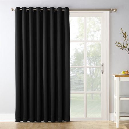 Sun Zero Conrad Extra-Wide Blackout Sliding Patio Door Curtain Panel