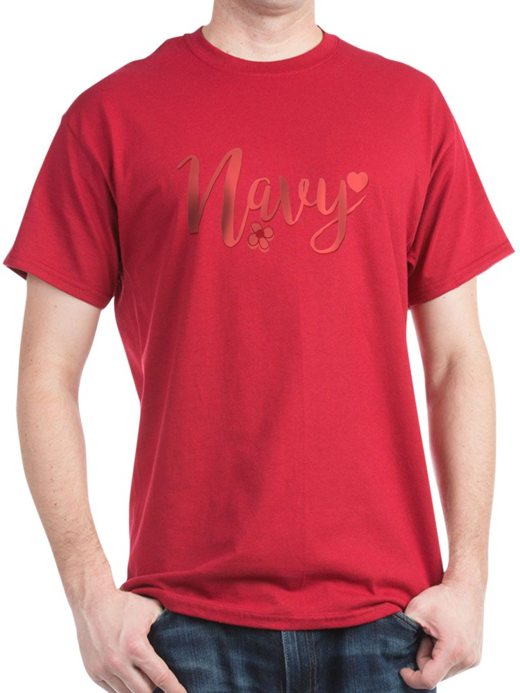 CafePress - Navy Girly Text T Shirt - 100% Cotton T-Shirt
