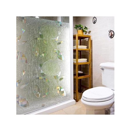 Shower Door Decorative Film.3d Static Cling Window Film Stained Glass Paper Decorative Frosted Vinyl 90x50cm