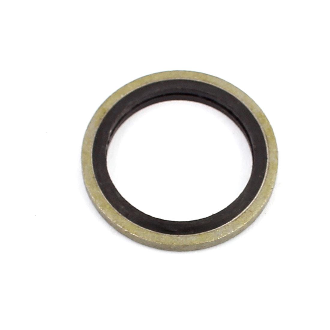 Unique Bargains30pcs 18mmx25mm Rubber Metal Combination Ring Resistant Oil Sealing Ring Gasket - image 1 de 2