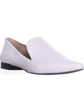 Womens Calvin Klein Elin Pointed Toe Loafer Flats, White, 8 US / 38 EU