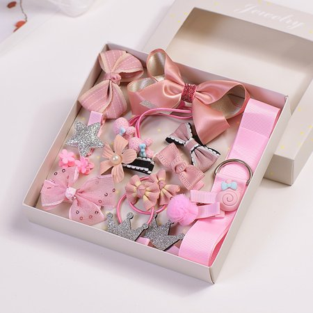 Outtop 17Pcs Kids Infant Hairpin Baby Girl Bowknot Flowers motifs Hair Clip - Flowers For Hair