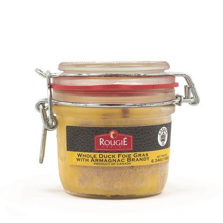 Rougie Whole Duck Foie Gras in Aspic with Armagnac Brandy - 6.34 oz - Not For Sale in CA