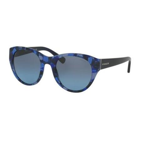 COACH Sunglasses HC8167 536117 Blue Black Mosaic/Navy 52MM ()