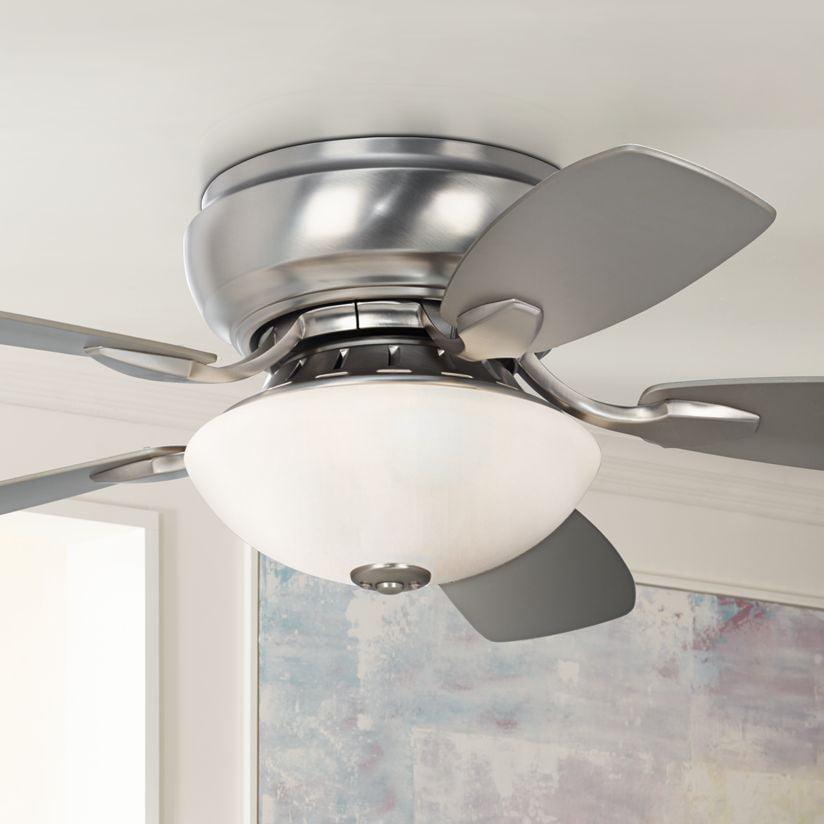 "44"" Casa Vieja Modern Hugger Ceiling Fan with Light Flush ..."