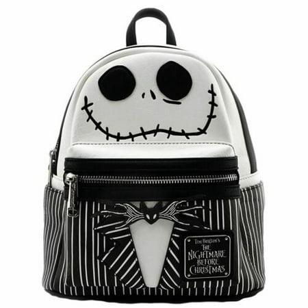 Loungefly Disney Nightmare Before Christmas Jack Skellington Mini Backpack Purse ()