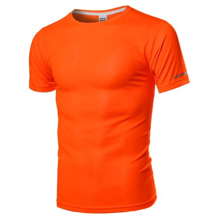 FashionOutfit Men's Men's Workout Activewear Crew Neck Short Sleeve - Athletic Jersey Workout Shirt