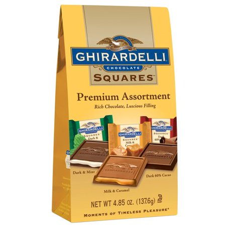 Ghirardelli Premium Squares Chocolate Assortment, 4.85 Oz. ()