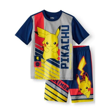 Boys' Pokemon 2 Piece Pajama Sleep Set (Little Boy & Big - Crazy 8 Pajamas